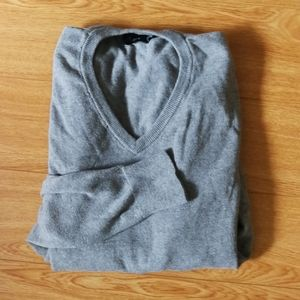 COPY - Grey v-neck sweater J. Crew